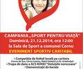 Eveniment sportiv caritabil in comuna Cornu