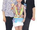 Gimnasta Denisa Stoian reprezinta Romania la un turneu international
